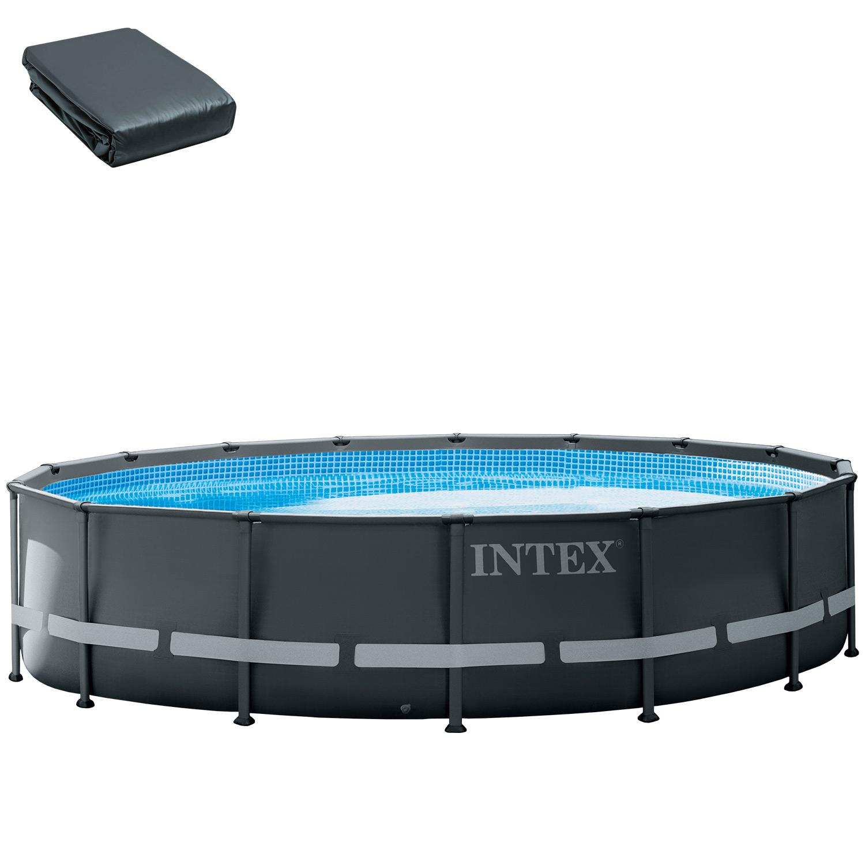 Ersatzfolie für Intex Frame Pool 488 x 122 cm XTR dunkelgrau 112434A