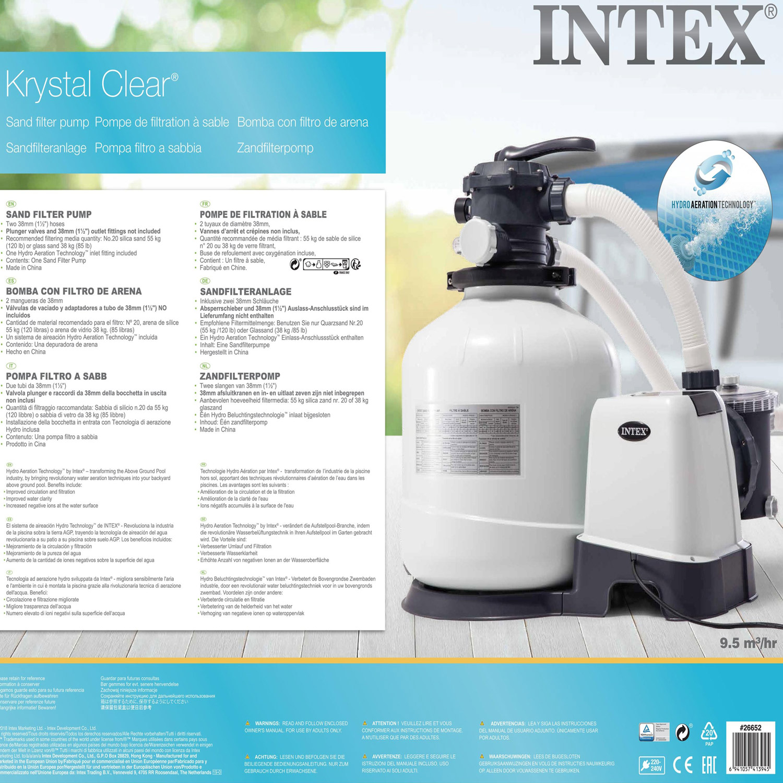 Intex Krystal Clear Sandfilteranlage 12 m³ für Pools bis 42.000l