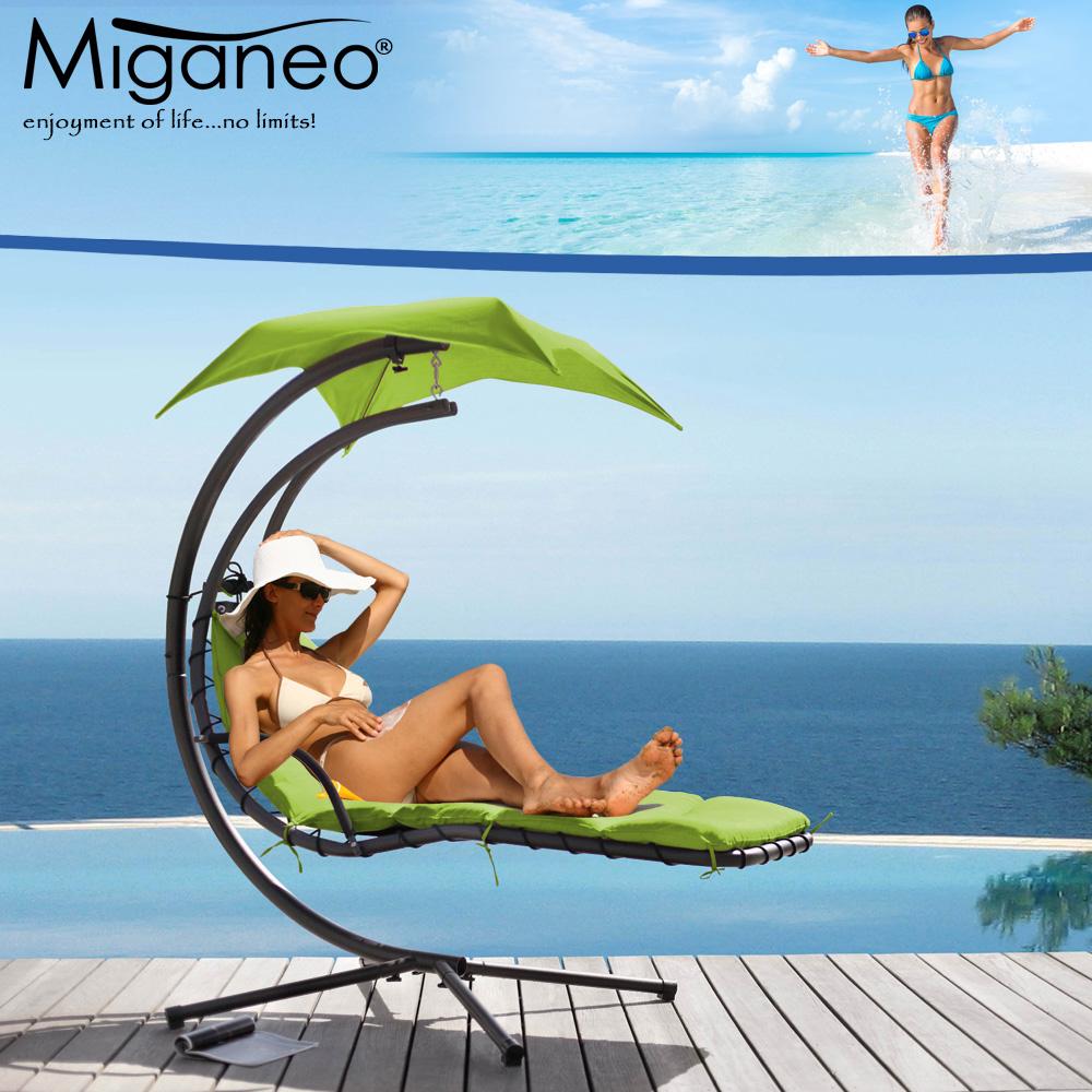Miganeo® Schwebeliege H 200, L 194, B 104 cm hellgrün