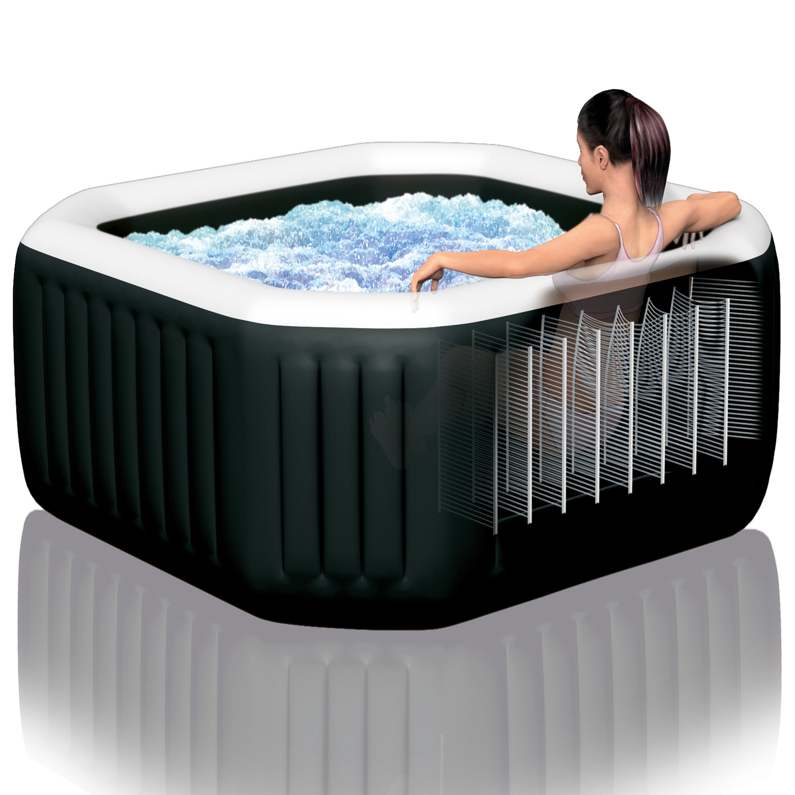 Intex PureSpa™ Octagon Bubble Jet mit Salzwassersystem Ø201x71cm
