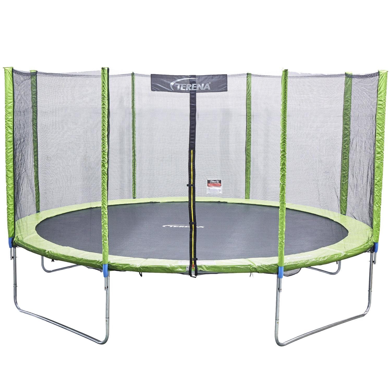 Terena® Trampolin Ø 305 cm grün mit 8 Stangen und Sicherheitsnetz