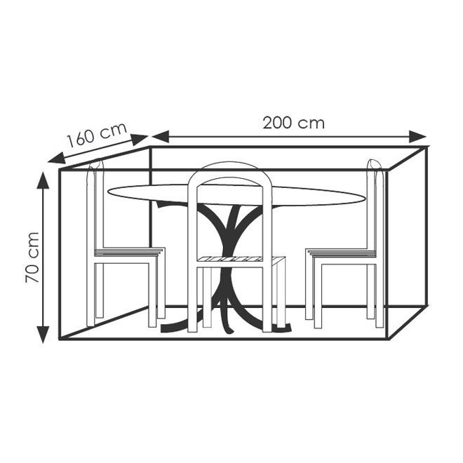 18069 Friedola Schutzhülle für Sitzgruppe 200 x 160 x 70cm