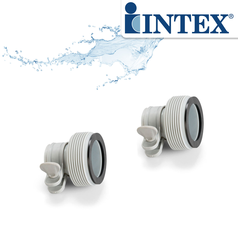 "2x Intex Spezialadapter ""B"" Adapter für Pumpe Pool 10722"