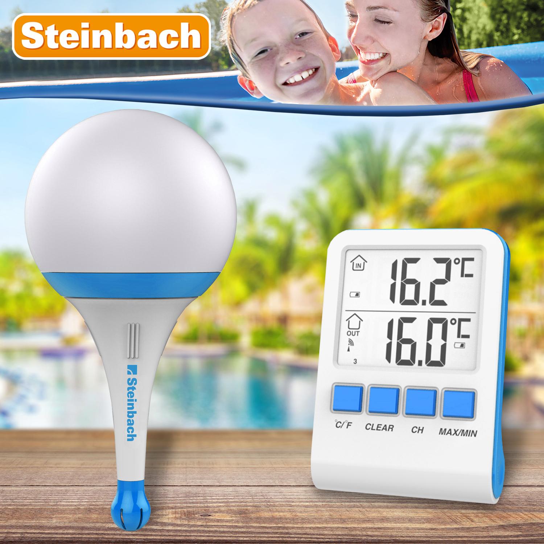 Steinbach Solarleuchte mit Funkthermometer