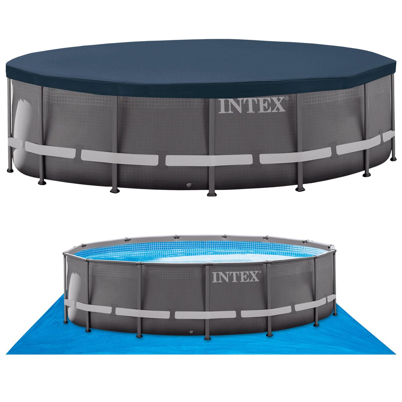 Intex Swimming Pool Frame Ultra Rondo 488x122 cm - Komplettset