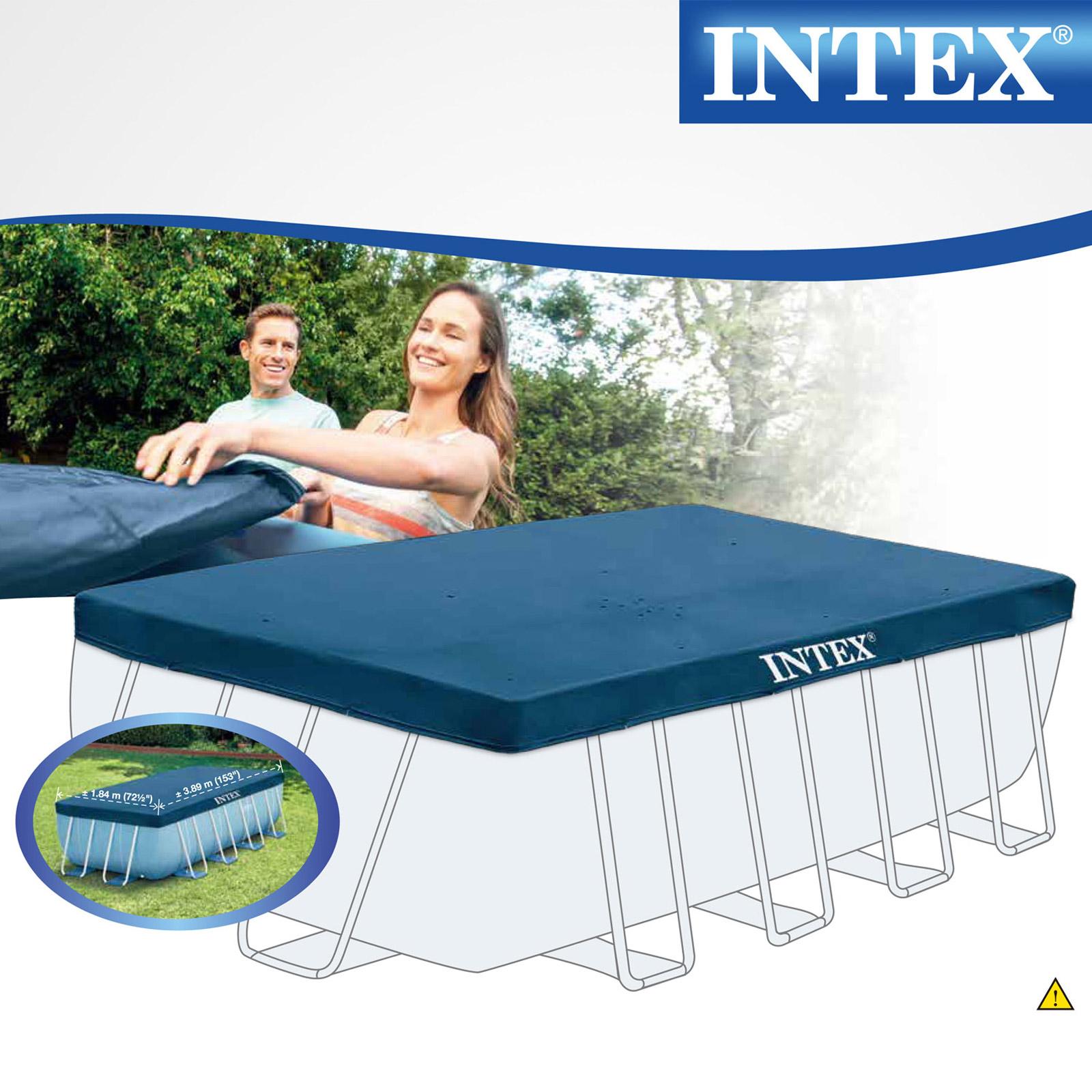 Intex Abdeckplane für Frame Pool Prism Quadra 400 x 200 cm