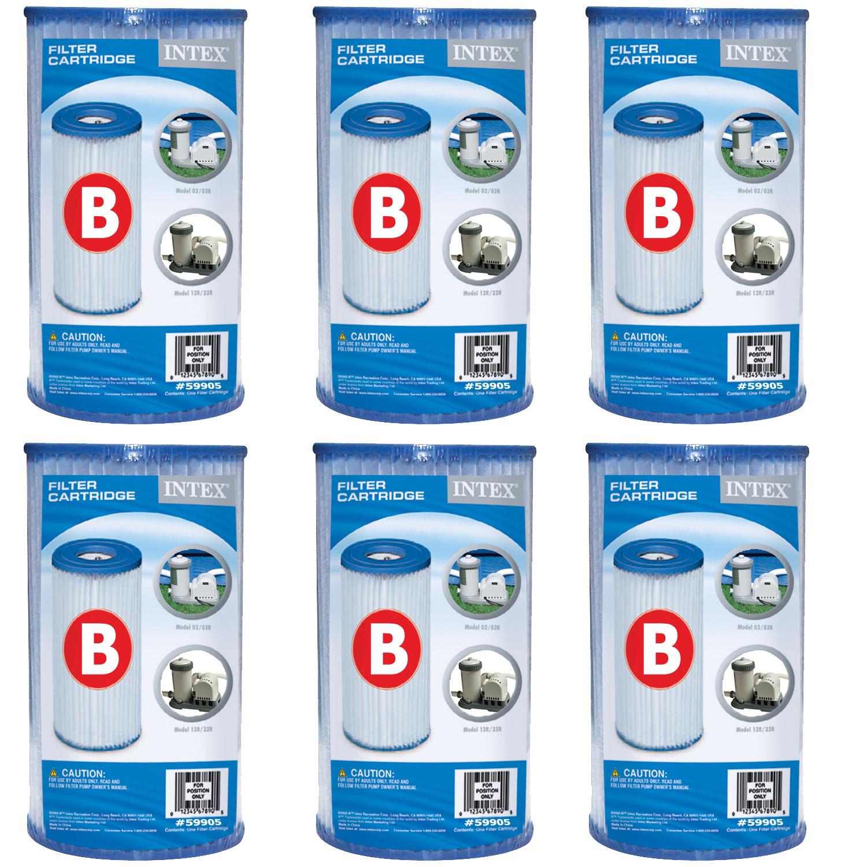 6x Intex Filterkartusche B für Poolpumpe