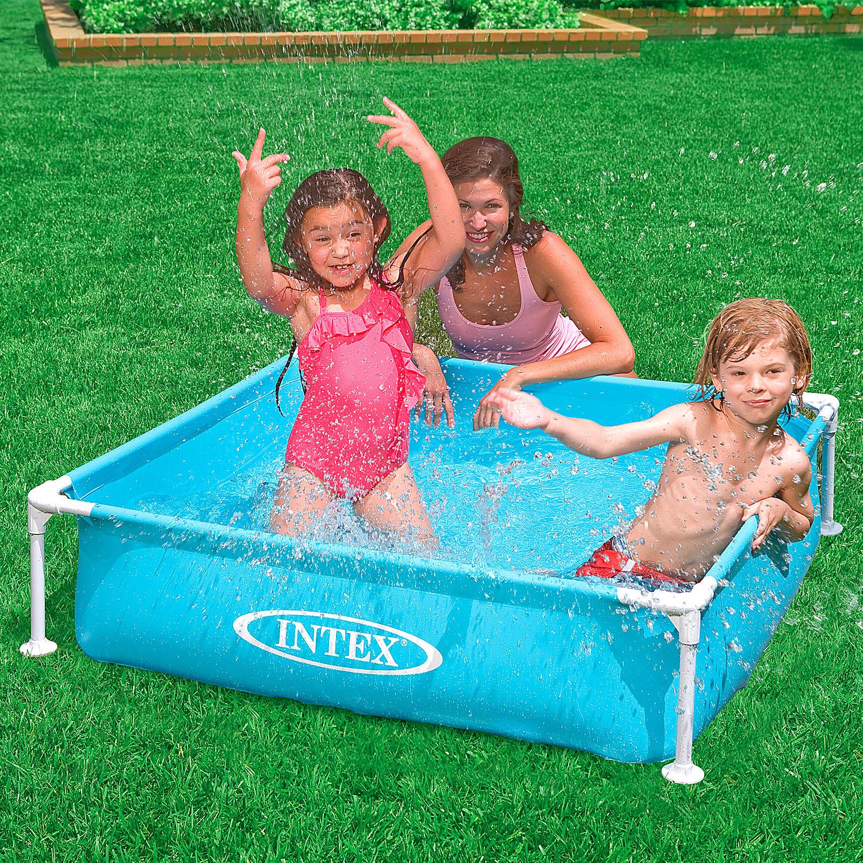 Intex Frame Pool Planschbecken Mini 122x122x30cm blau