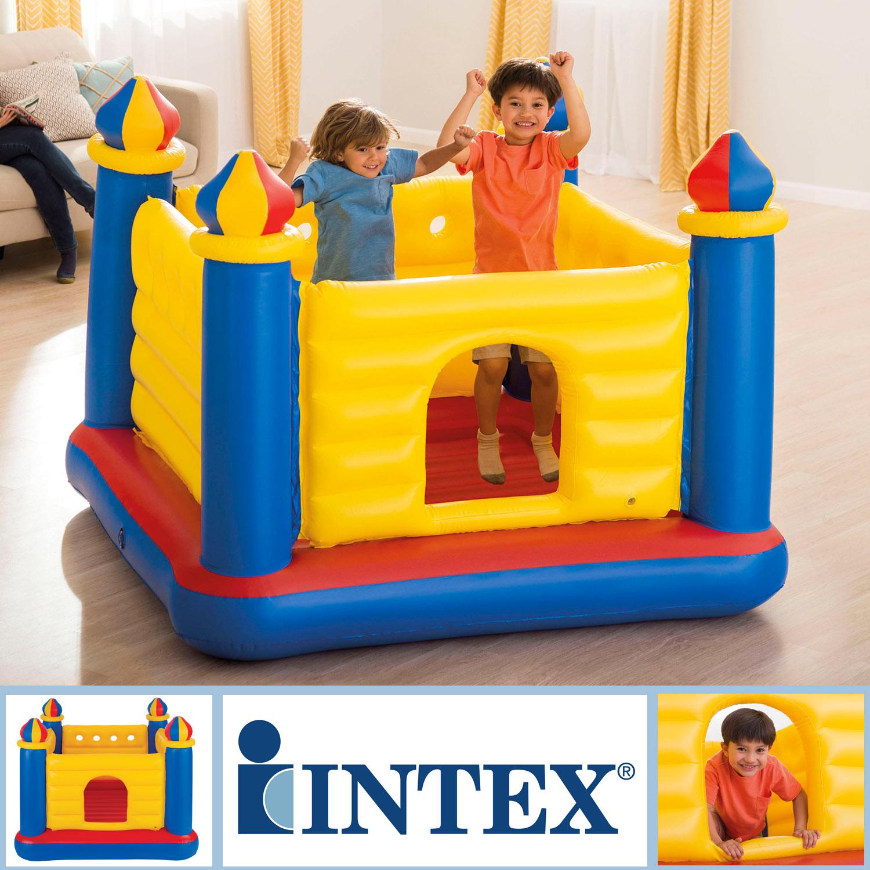 INTEX Riesen Hüpfburg Spiel Springburg 175x175x135cm