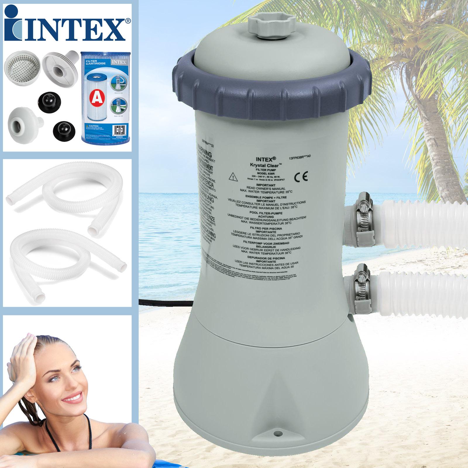 Intex 28638 Filterkartuschenpumpe - Pumpleistung 3785 Liter/Std.