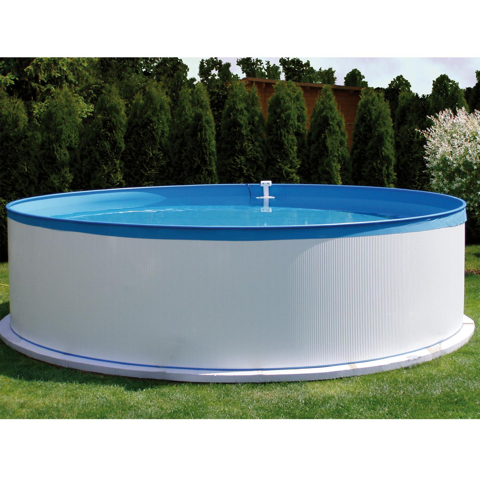 Stahlwandbecken Pool 350x90 11000 Splasher Pumpe Leiter Set Stahlwandpool
