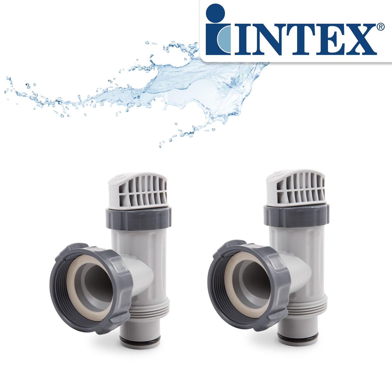 2x Intex Absperrhahn Wasserhahn für Pool 10747