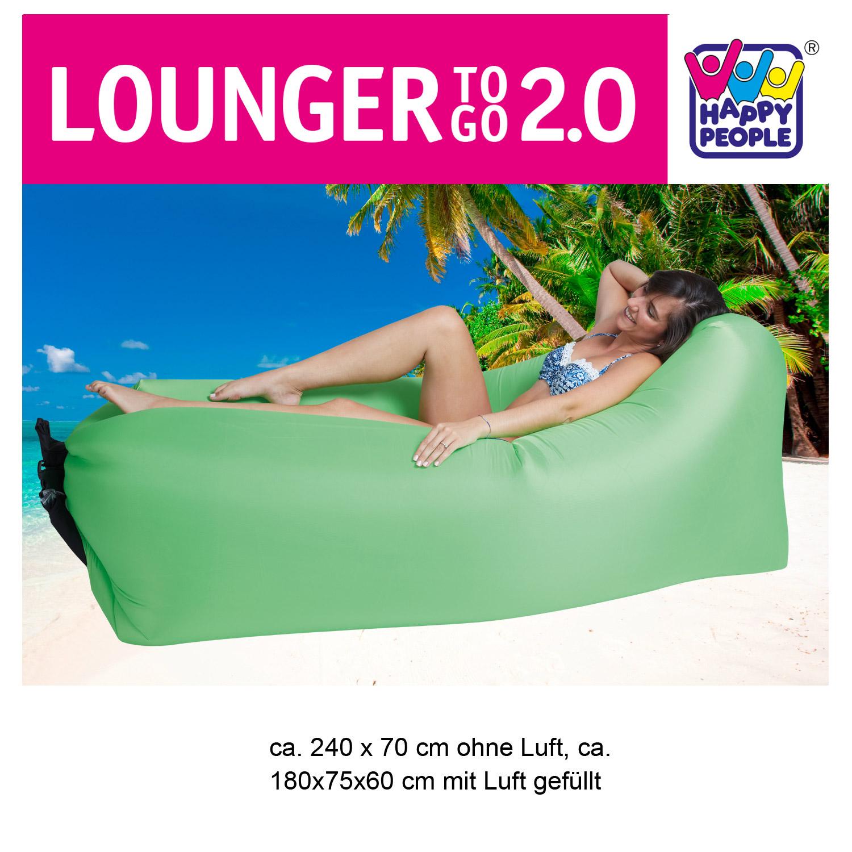 Lounger To Go 2,0® Luftmatratze grün