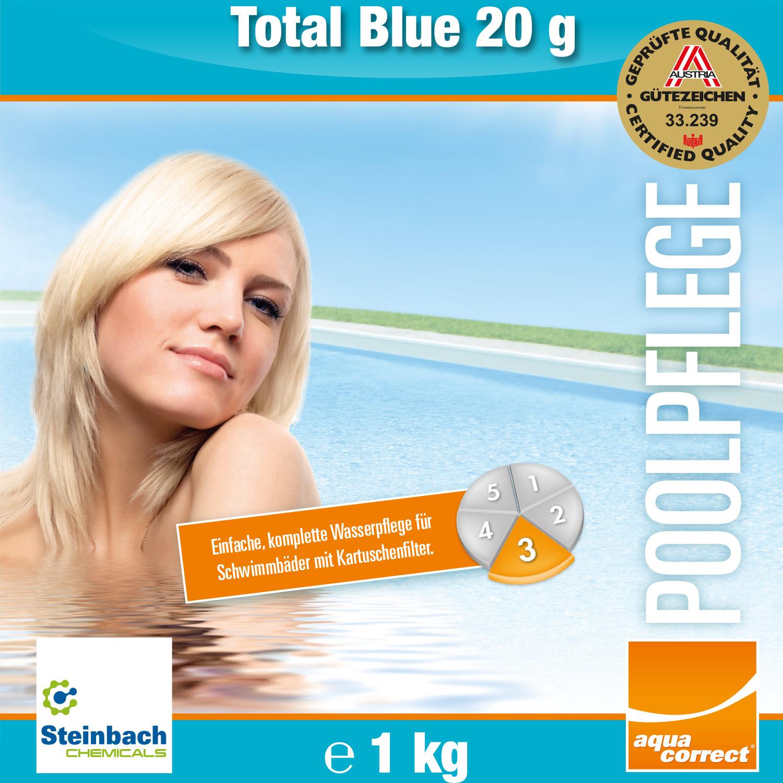 1kg Steinbach Blue Power Tabs für kristallklares Wasser Multitabs 5 in 1