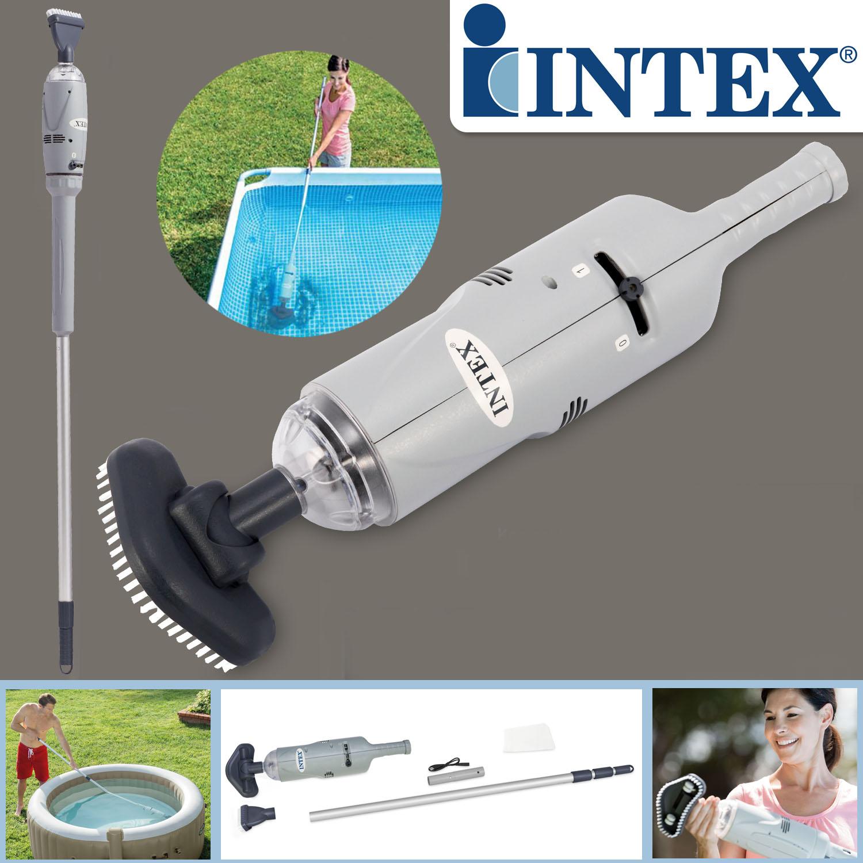 Intex Unterwasser Handstaubsauger mit Akku Abschaltautomatik Poolsauger
