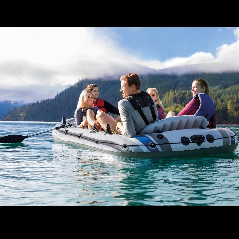 Intex Boot Excursion 5 Komplettset 366x168x43cm mit Elektromotor und Heckspiegel