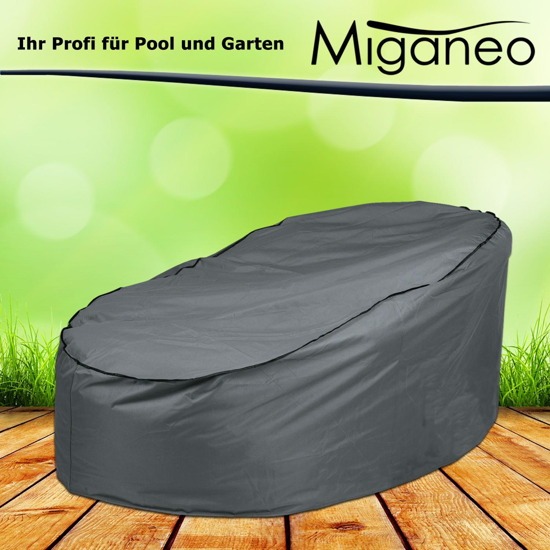 Miganeo Schutzhülle Deluxe für Lounge Gartenmöbel Ø 200x126/45 cm Oxford 420 D