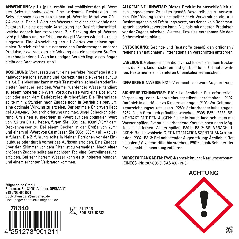 Miganeo pH Plus Granulat, 5 kg