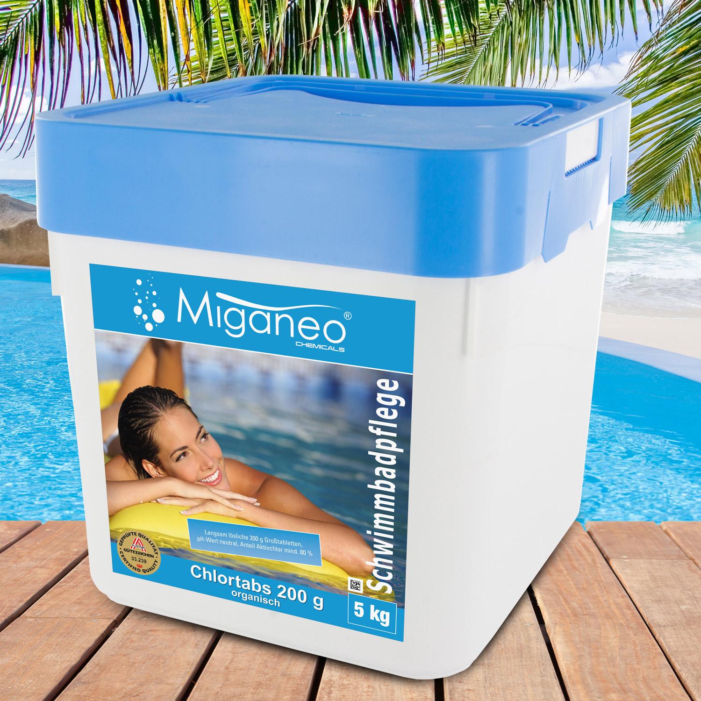 Miganeo®  Chlortabs 200g organisch, 5 kg, Langzeitchlortabletten