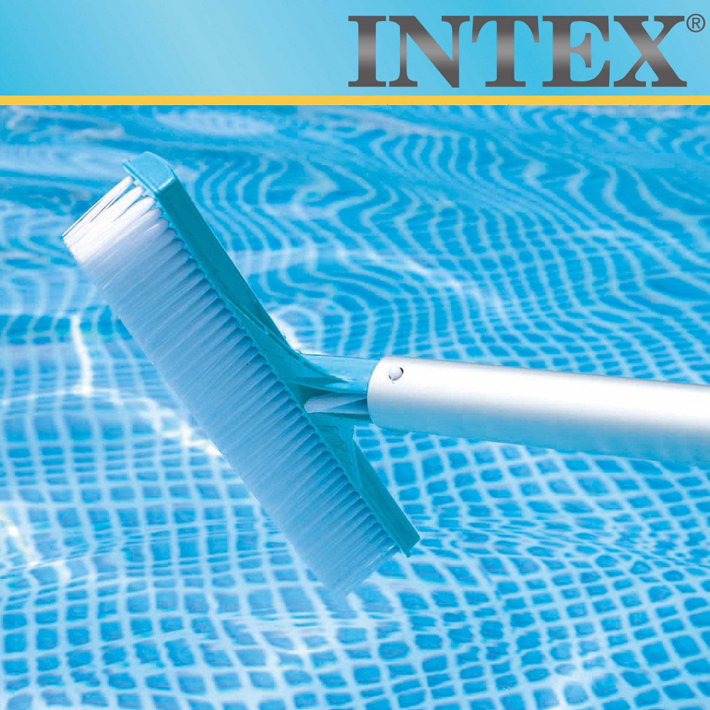 INTEX Reinigungsset  mit Teleskopstange 279 cm Skimmer Bodensauger Kescher