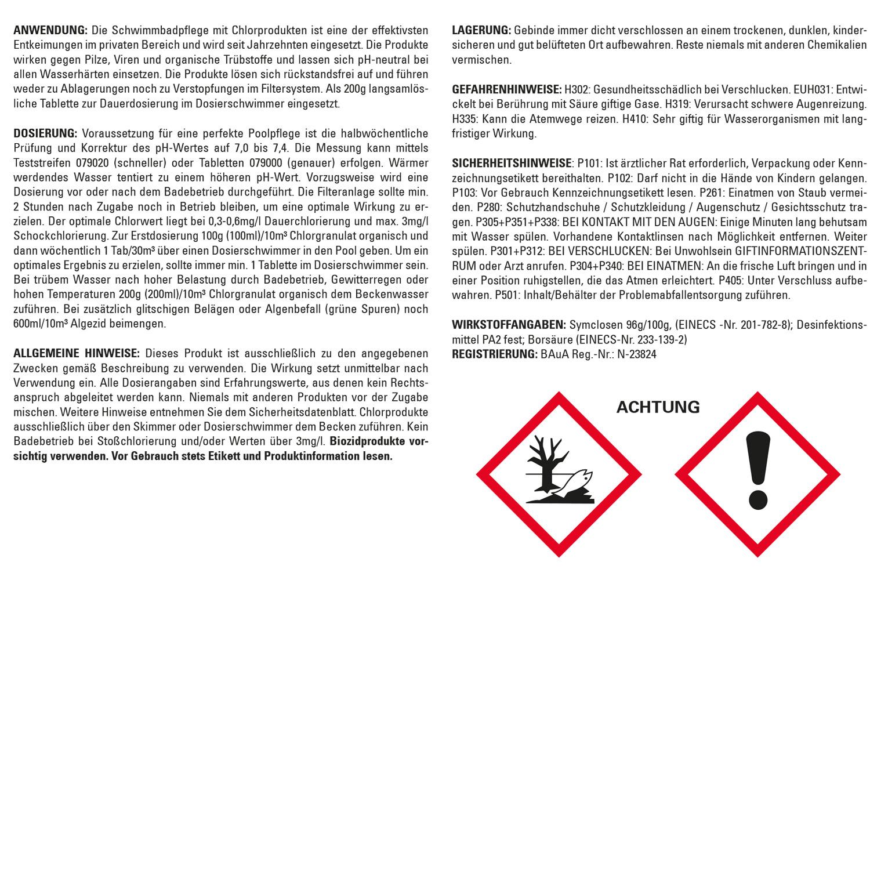 Steinbach Chlortabs 200g organisch, 4 x  5 kg, Langzeitchlortabletten