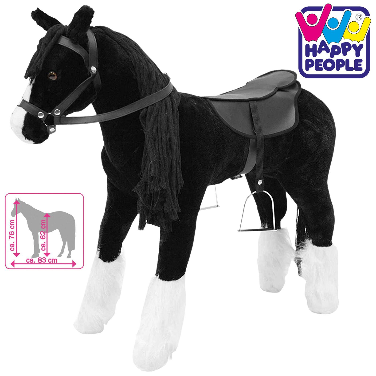 Happy People 58046 Plüschpferd Shire Horse mit Sound stehend
