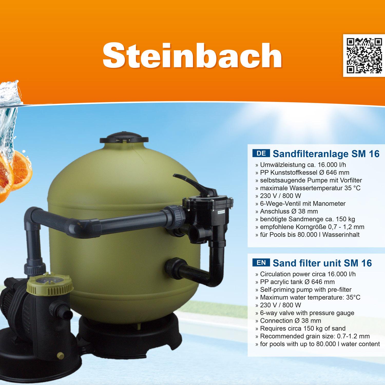 Steinbach Sandfilteranlage SM 16