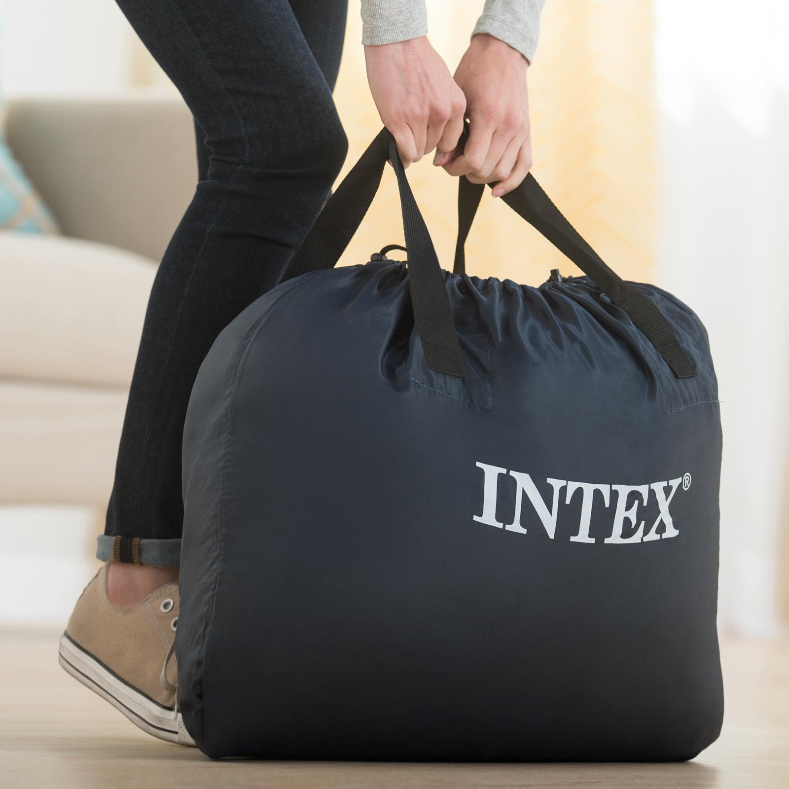 Intex Luftbett 191x99x46 cm mit integrierter Luftpumpe Gästebett