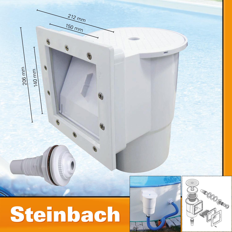 Steinbach Skimmerset S1 inklusive Einlaufdüse Einbauskimmer Einbau für Stahlwand