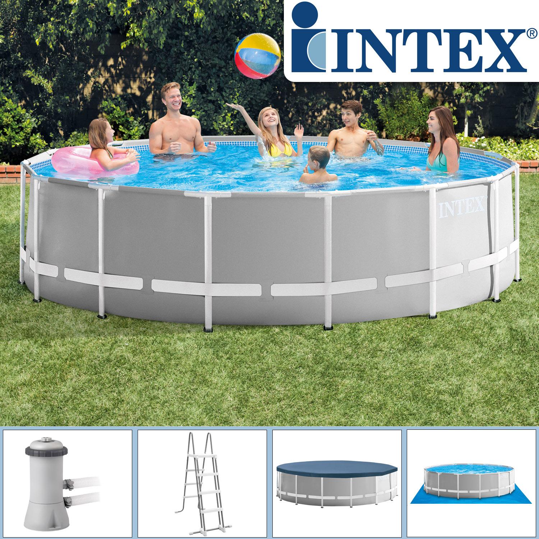 Intex Swimming Ø 457 x 122 cm Pool Frame Pool Set Prism Rondo