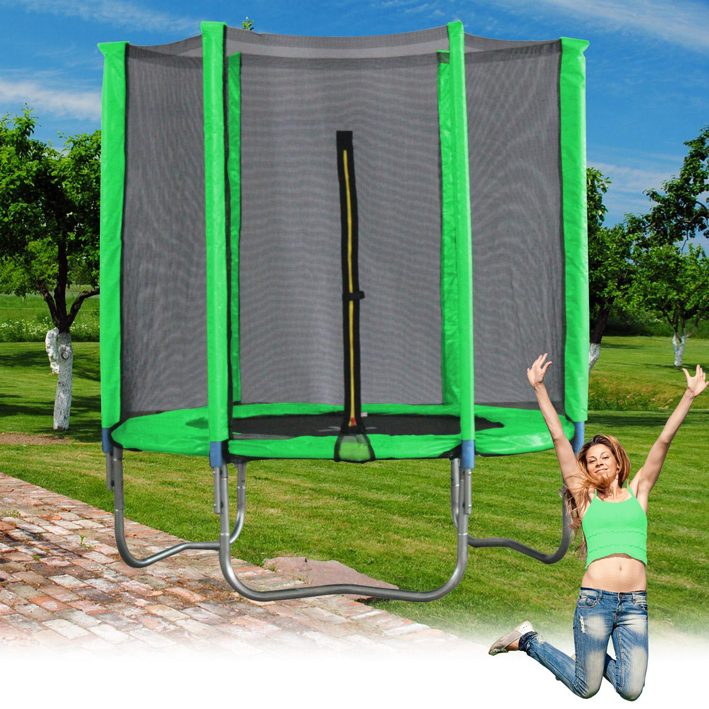 Terena® Trampolin Ø 244 cm grün mit 6 Stangen und Sicherheitsnetz