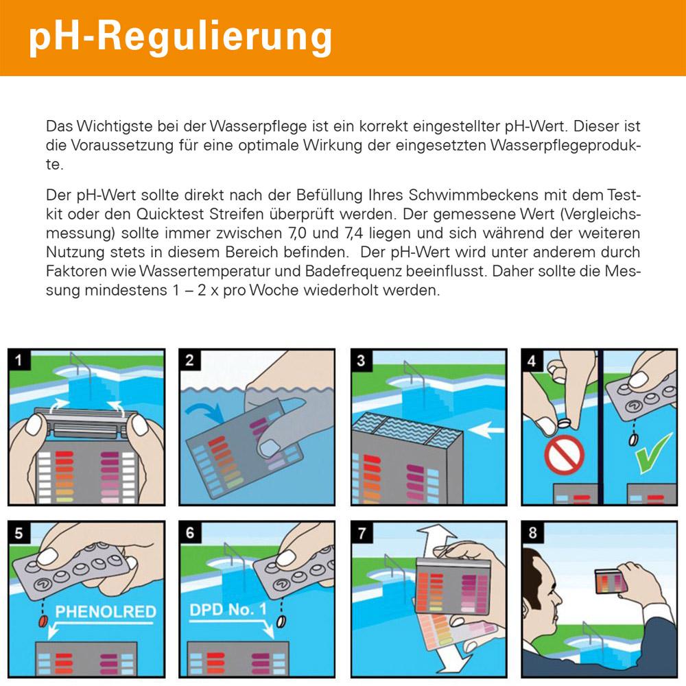 Steinbach Wassertester Testkit pH/O₂ mit 20 Testtabletten
