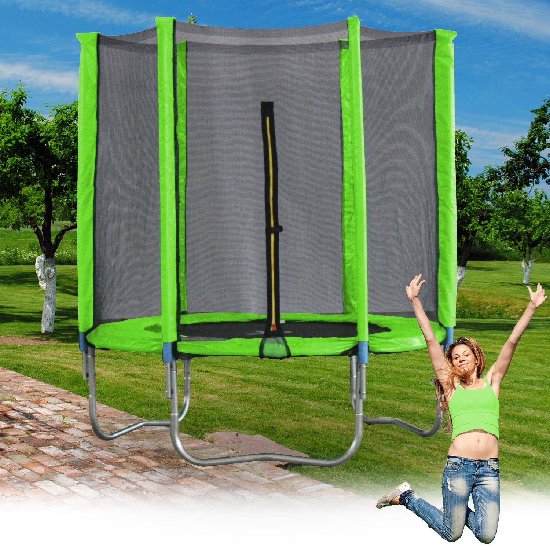 Terena® Trampolin Ø 183 cm grün mit 6 Stangen und Sicherheitsnetz