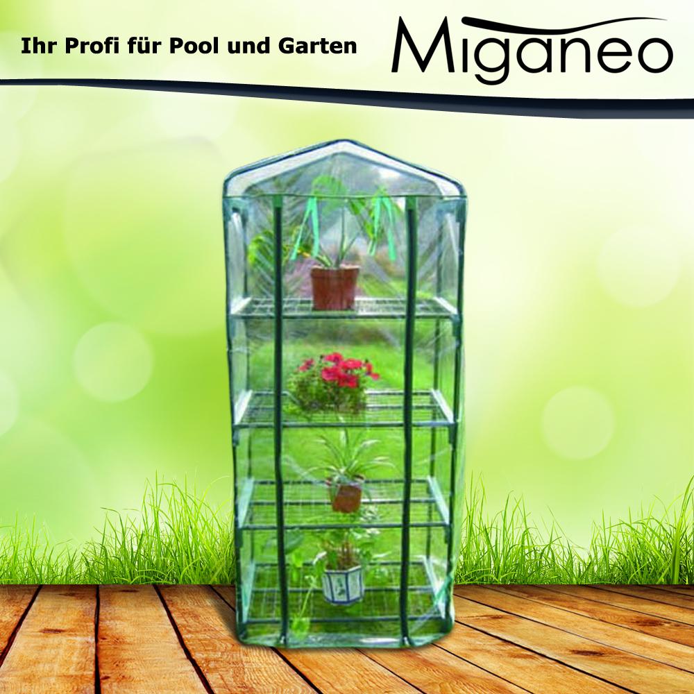 Miganeo Gewächshaus mit 4 Etagen 69x49x160 cm Treibhaus Pflanzhaus